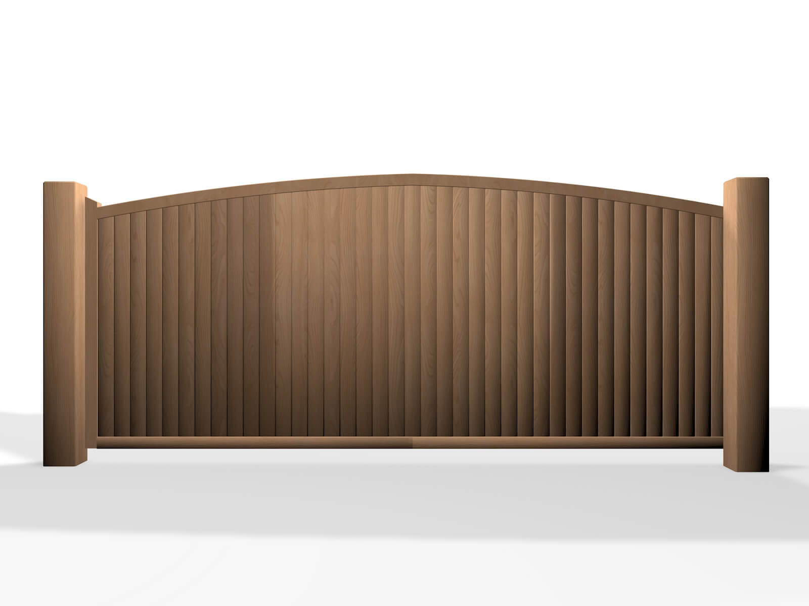 wooden arch top sliding automated gate