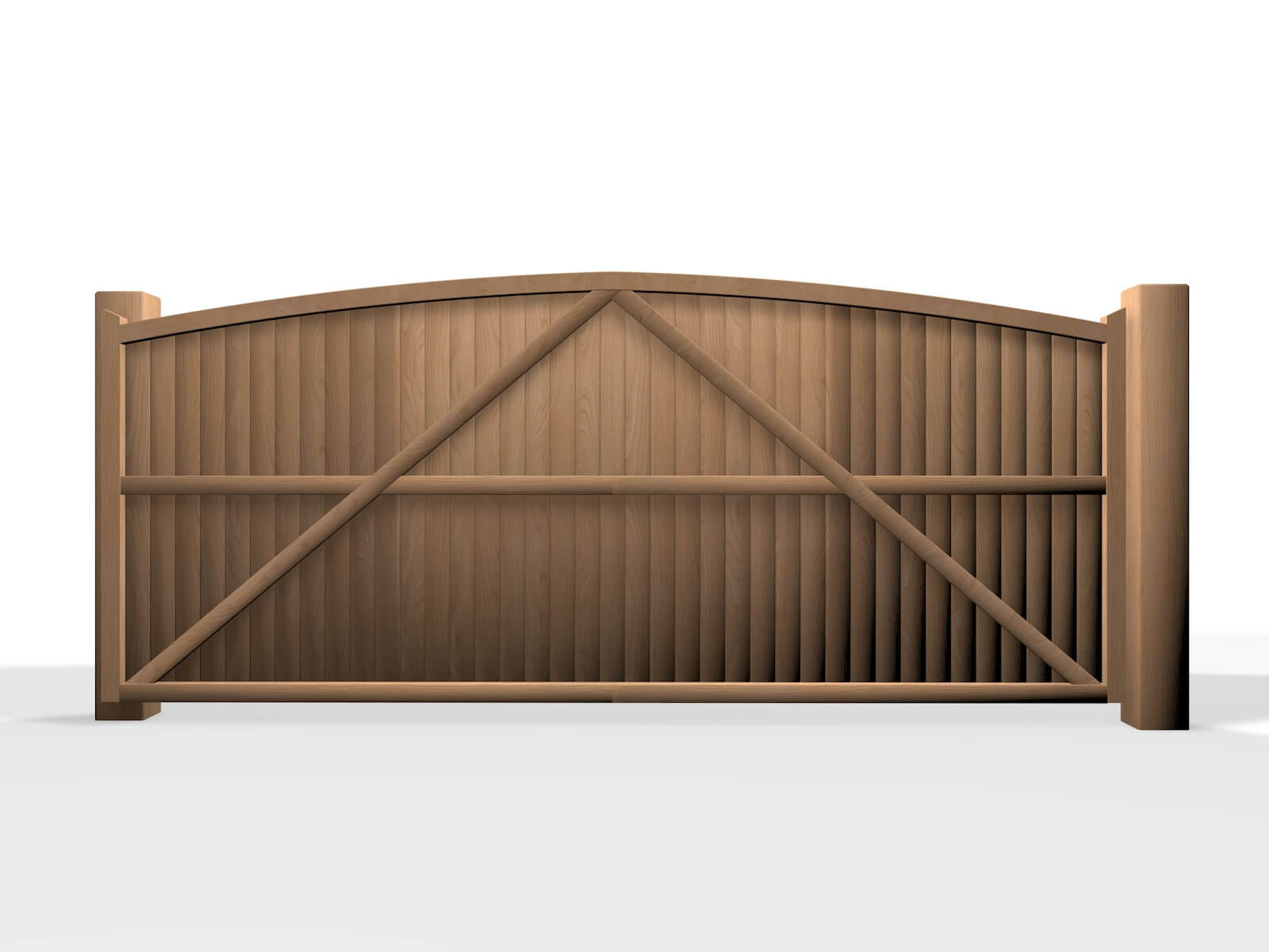 wooden arch top sliding automated gate bristol