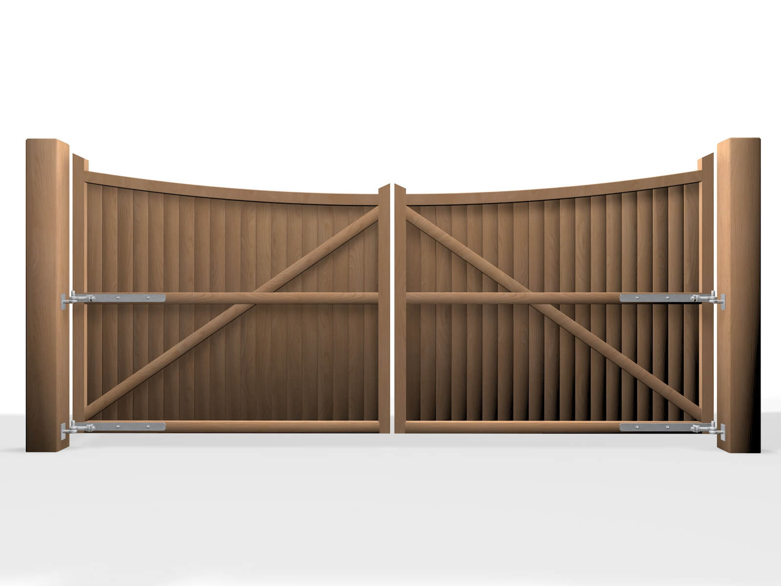 arch bow top wooden swinging gate bristol