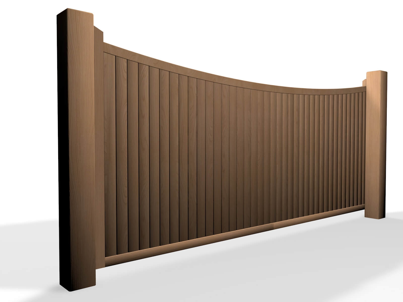 wooden bow top sliding automated gate design