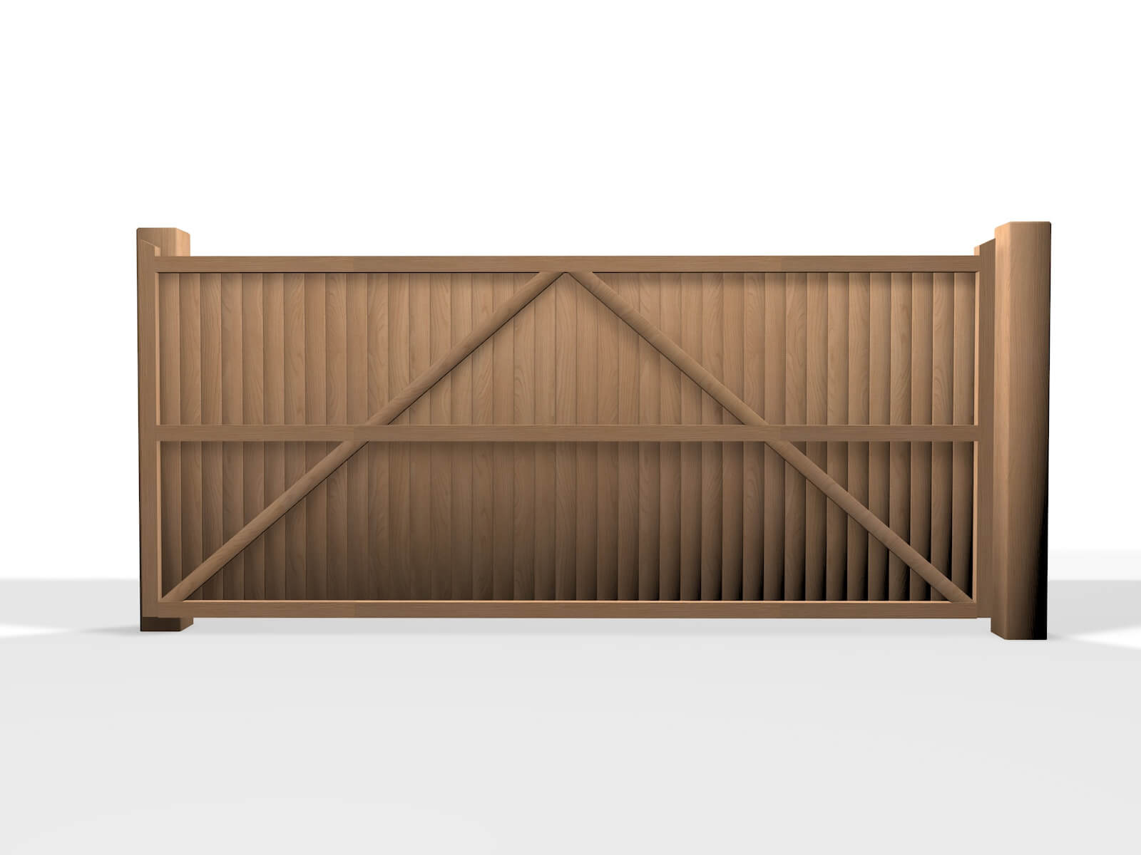 wooden flat top sliding automated gate bristol