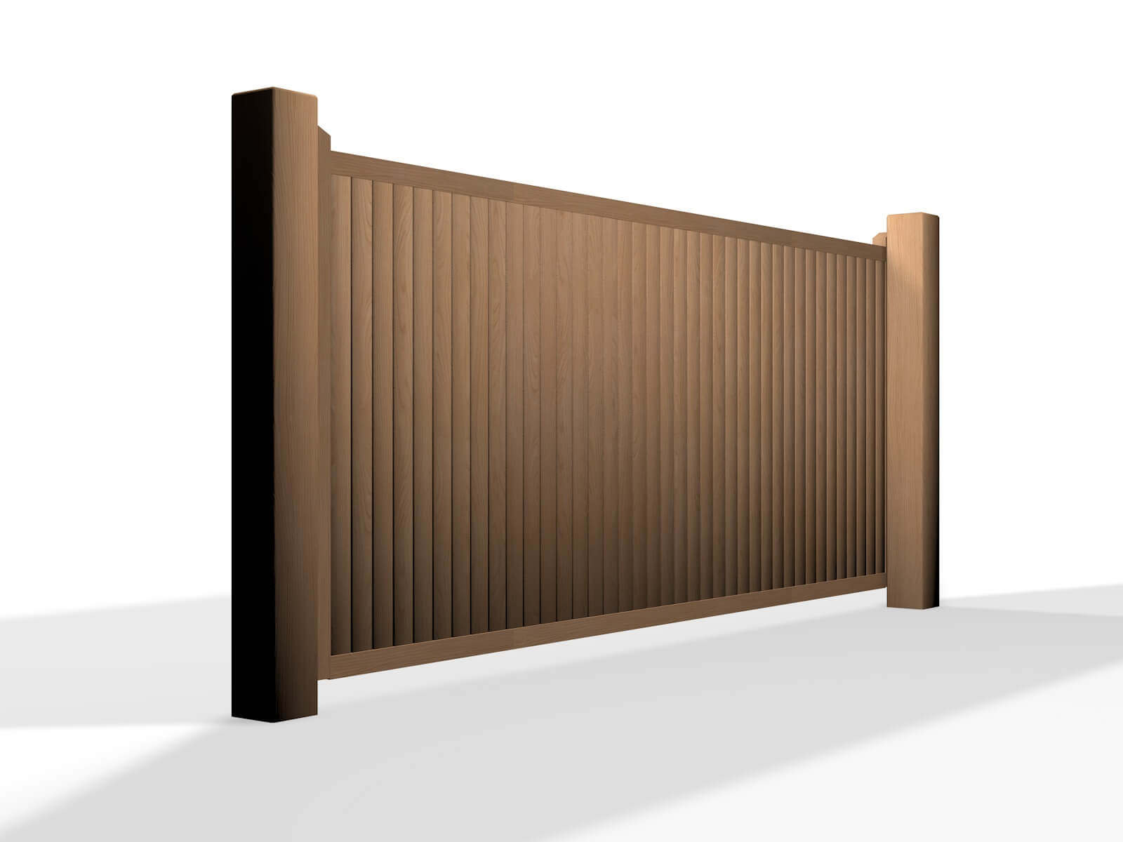 wooden flat top sliding automated electric gate