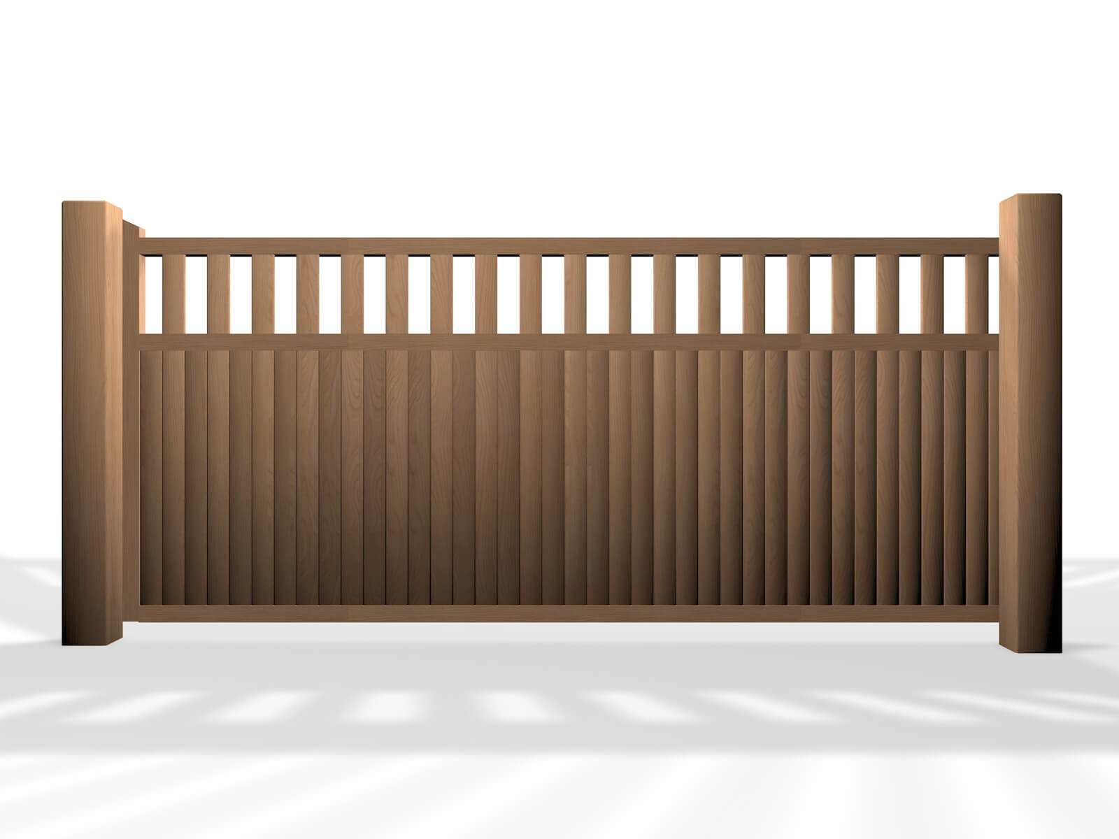 wooden flat open top sliding automated gate uk bristol