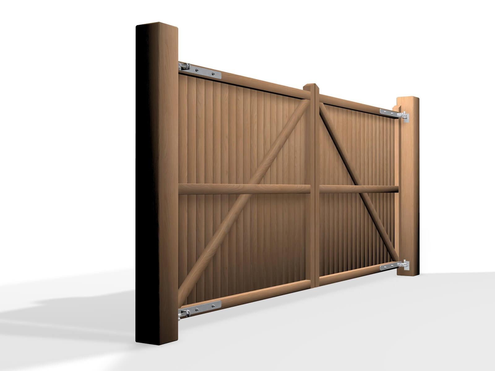 flat top wooden swinging gate company Bristol
