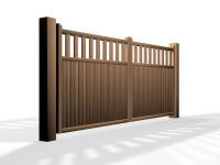 flat top open rail wooden swinging gate somerset