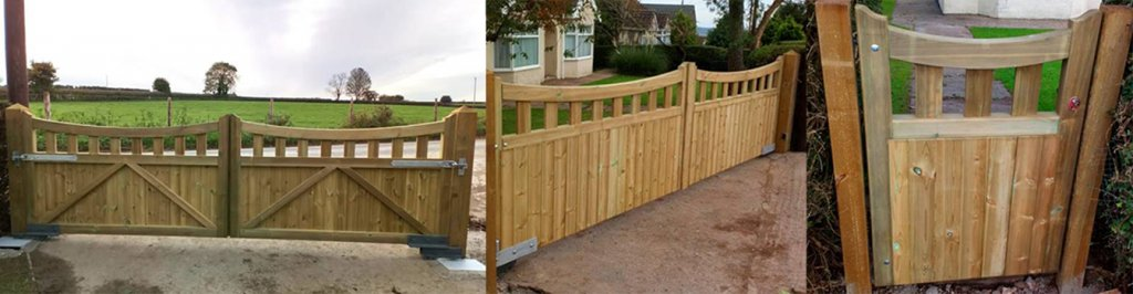 Softwood bow top gate